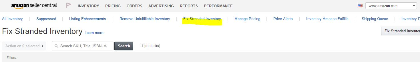 Fix Stranded Inventory