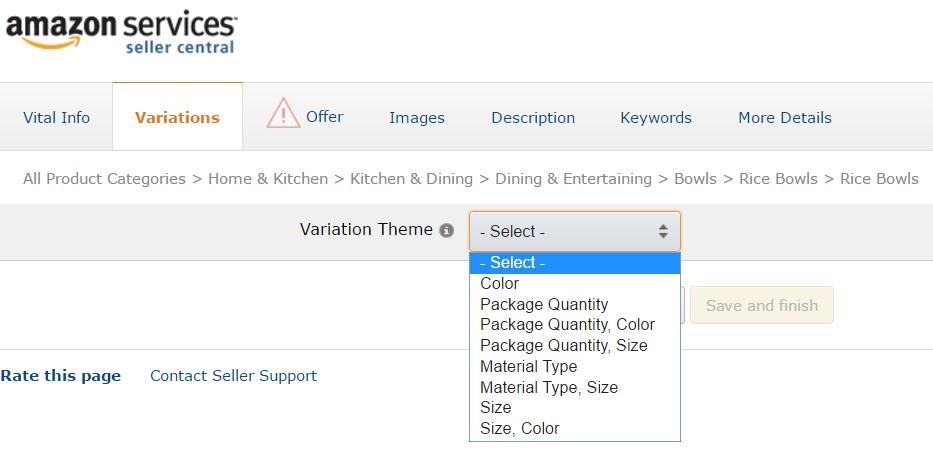 Amazon輸出 無在庫出品Variation出品登録方法(手動出品)