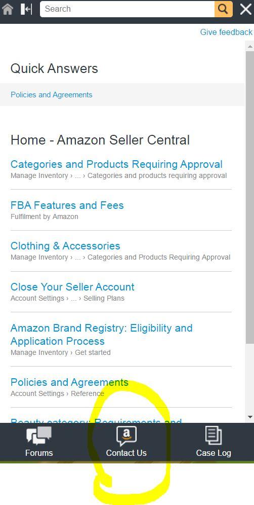 Amazon輸出 Amazonに連絡