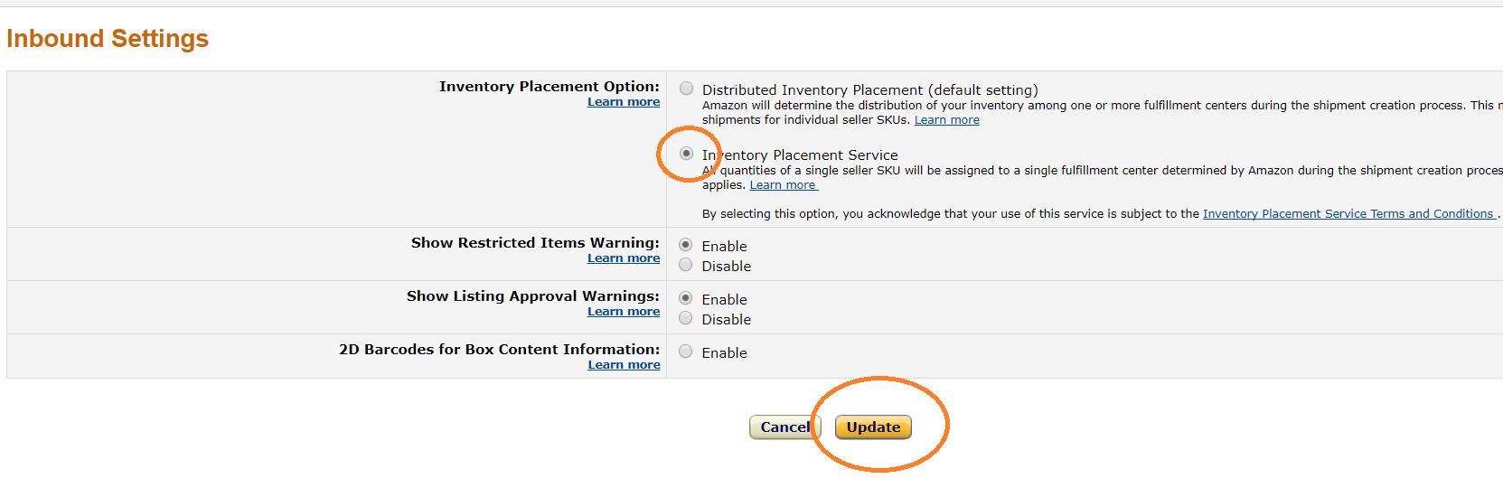Amazon輸出 FBA 納品先