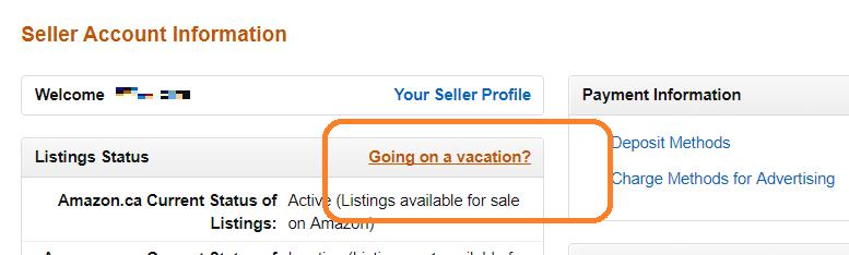 Amazon輸出 休暇設定