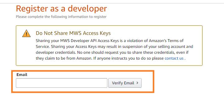 Amazon輸出 MWS 取得方法