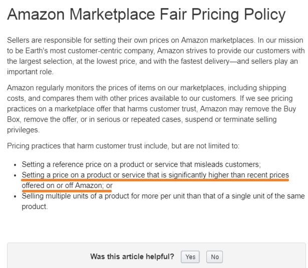 Amazon輸出 価格 高額