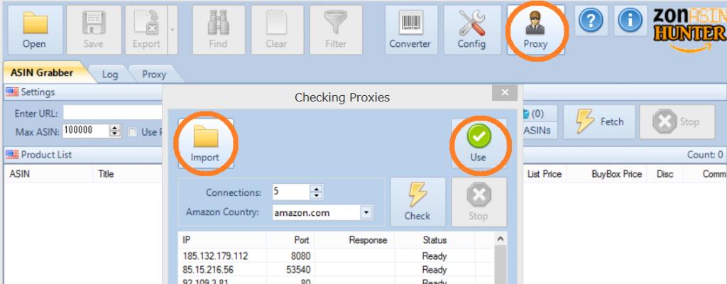 ZonASINHunter プロキシ Proxies 使い方