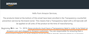 Amazon transparencyとは